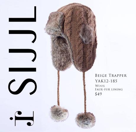 SIJJL's Beige Trapper Hat