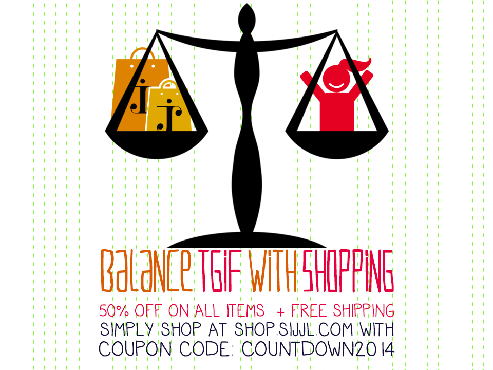 Balance TGIF with shopping