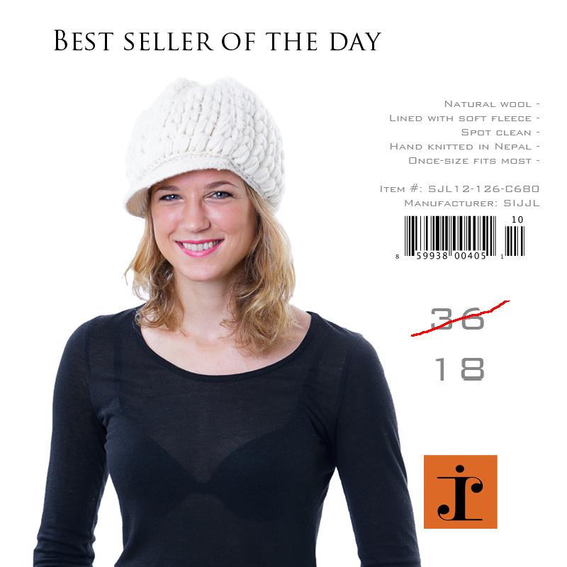 ivory wool hat