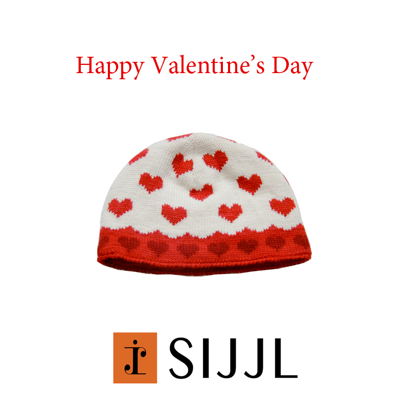 valentine's day love heart hat